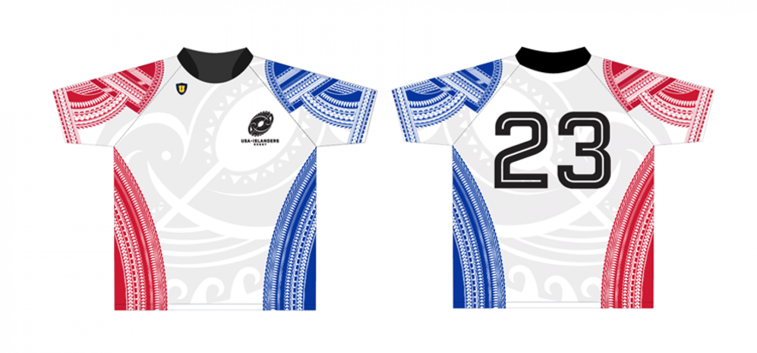2017 USA Islander Rugby Jersey Front and Back