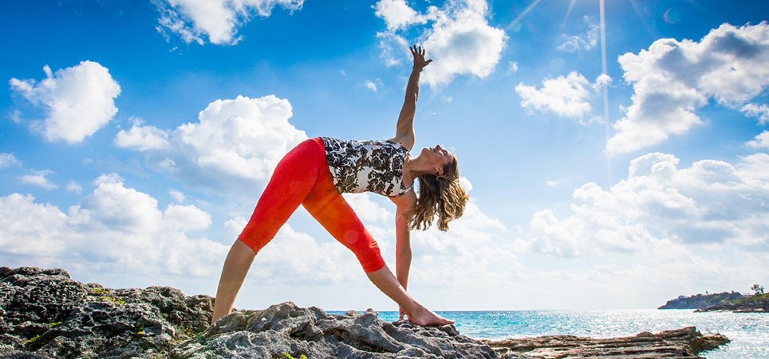 Yoga on the Beach in Bermuda
