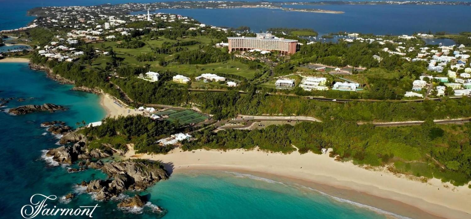 overhead shot of Fairmount Southampton, Bermuda