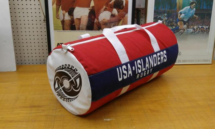 USA Islanders rugby bag design by International Athletic